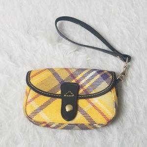 Dooney & Bourke plaid wristlet wallet leather